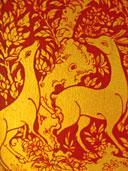 จิตรกรรมฝาผนังรูปสัตว์ต่าง ๆ วัดพระธาตุเรืองรอง อ.เมือง จ.ศรีสะเกษ